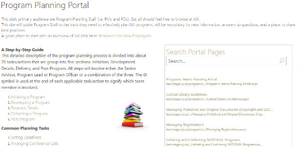 Non-Profit Knowledge Management Repository Screen Shot